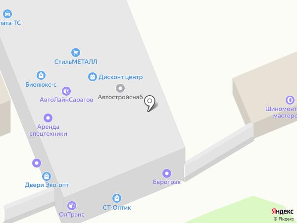Витраж-С на карте Саратова