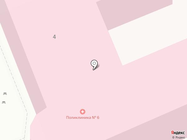Городская поликлиника №6 на карте Саратова