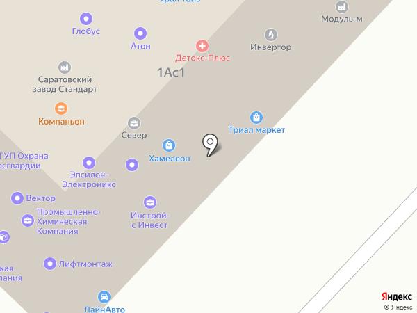 Витязь-Щит на карте Саратова