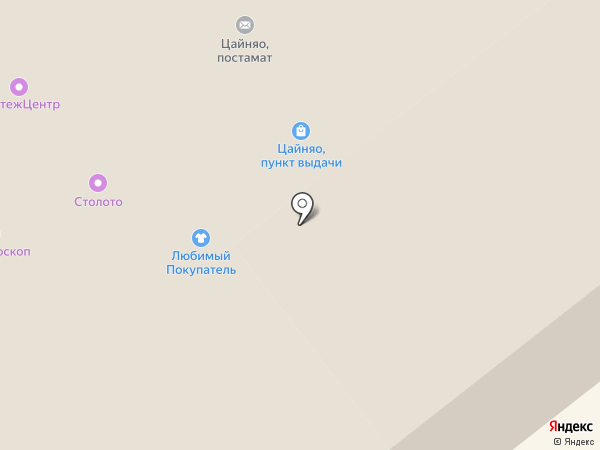 Златогор на карте Саратова