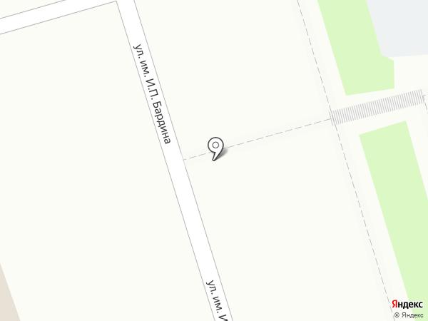 Автостоянка на ул. Бардина на карте Саратова