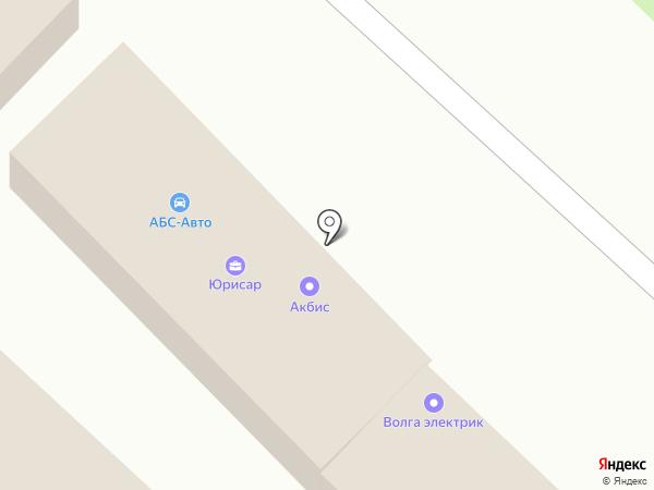 Юрисар на карте Саратова