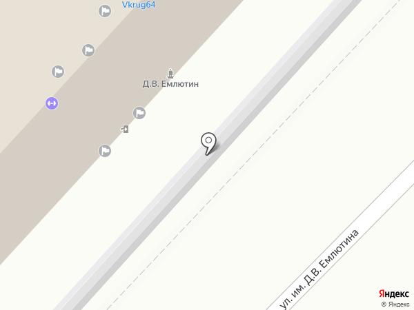 Триада на карте Саратова