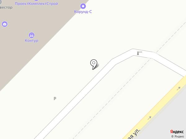 Корунд на карте Саратова