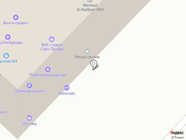 Вентек на карте Саратова