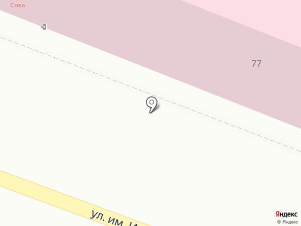 Сова на карте Саратова