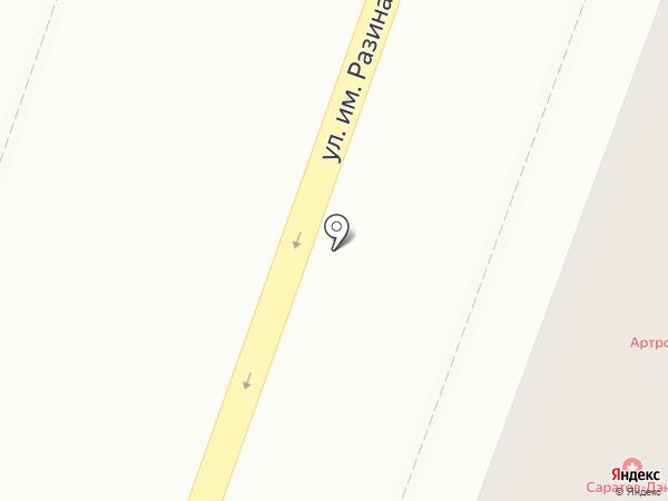 Виртуаль на карте Саратова