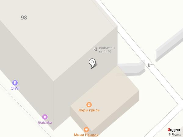 Пандок на карте Саратова