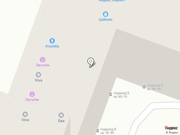 Клумба на карте Саратова