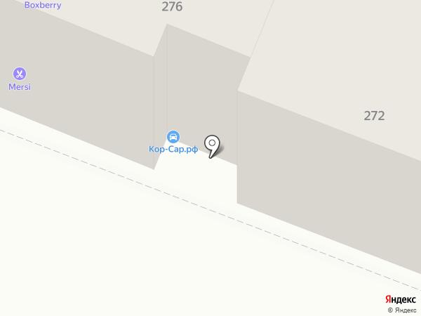 Корсар на карте Саратова