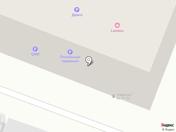Диагорос на карте Саратова