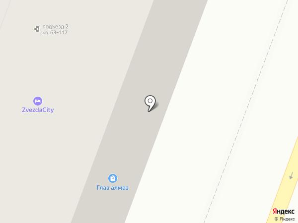 Глаз-алмаз на карте Саратова