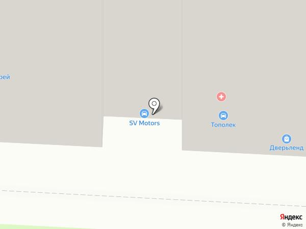 Тополёк на карте Саратова