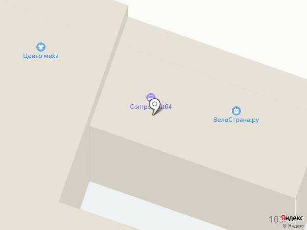 Яблонька на карте Саратова