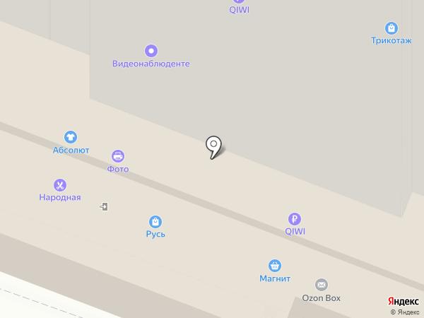 Народная на карте Саратова