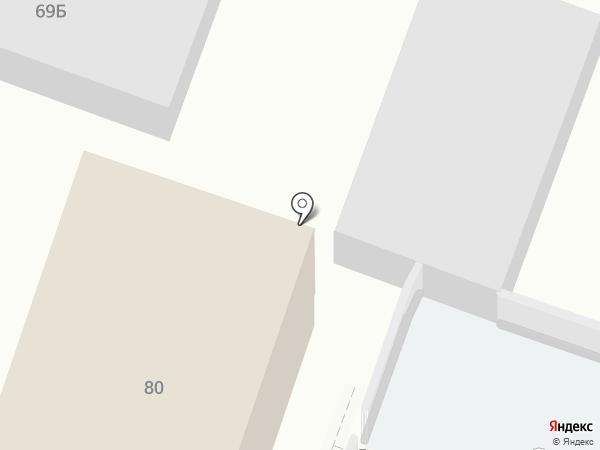 Эгида на карте Саратова