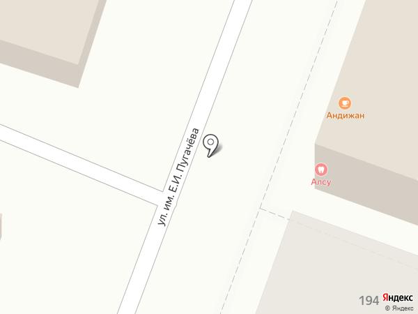 Раки на карте Саратова