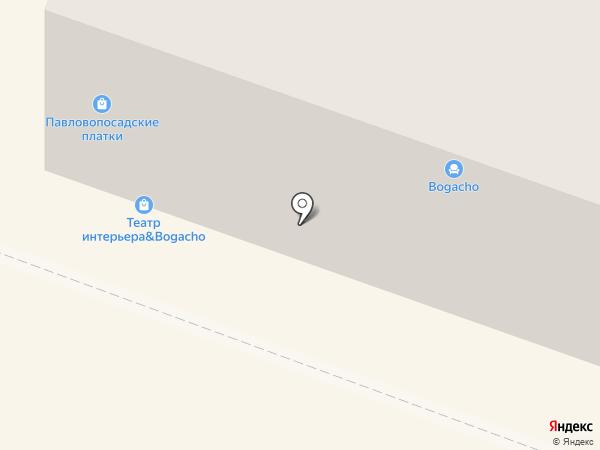 Павлопосадские платки на карте Саратова