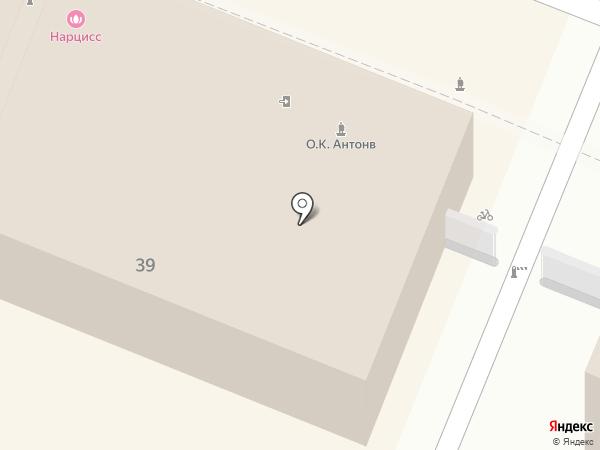 Нарцисс на карте Саратова