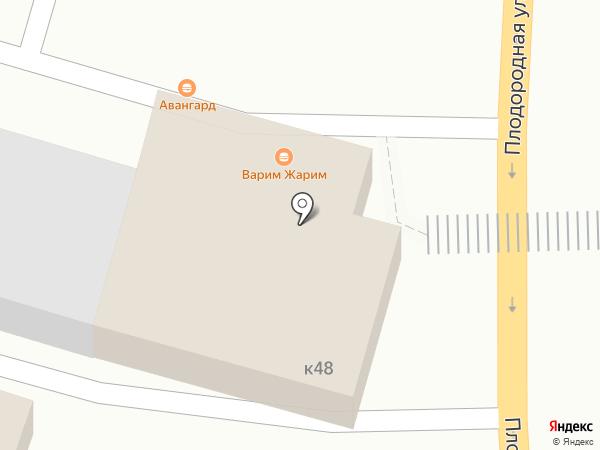 Авангард на карте Саратова