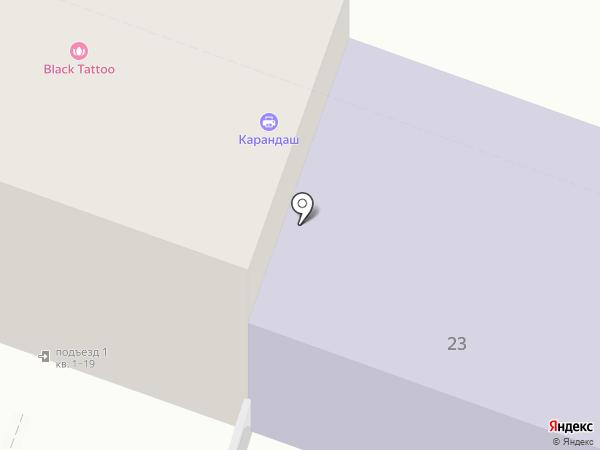 КАРАНДАШ на карте Саратова