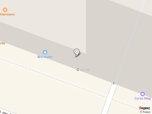 Конфэшн на карте Саратова