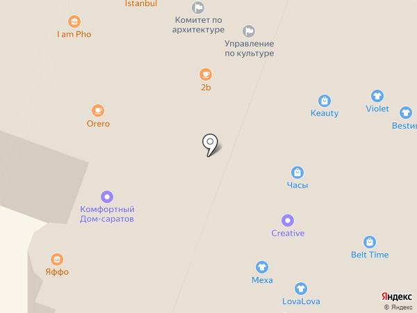 Белочка на карте Саратова