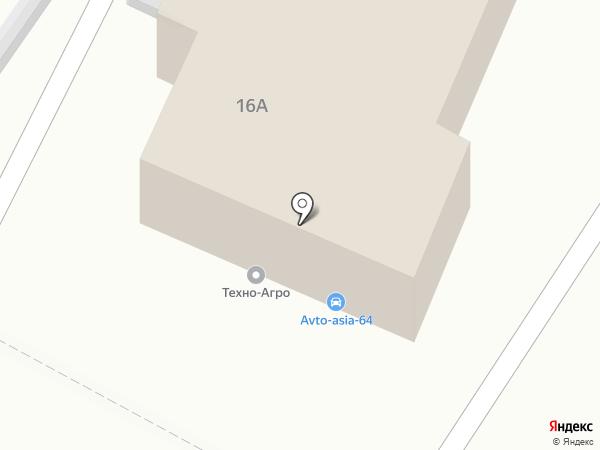 Дачный на карте Саратова