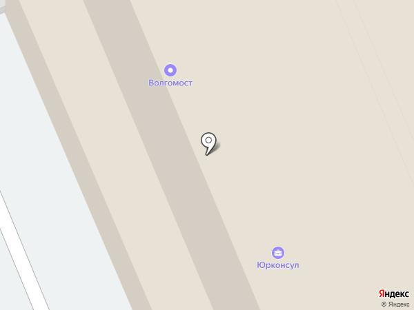 Волгомост на карте Саратова