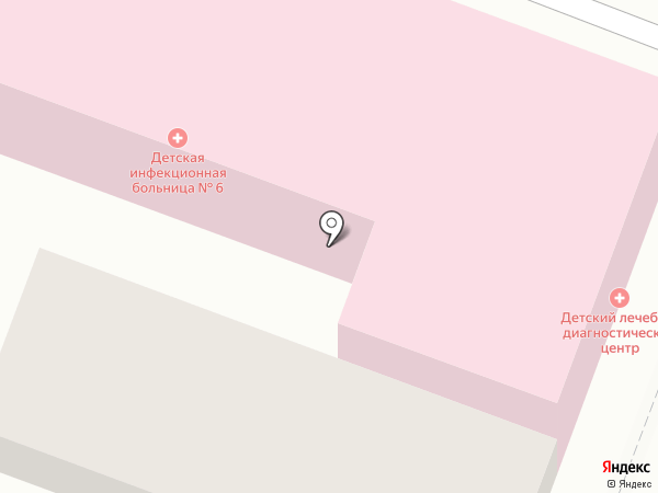 Детская инфекционная больница №6 на карте Саратова