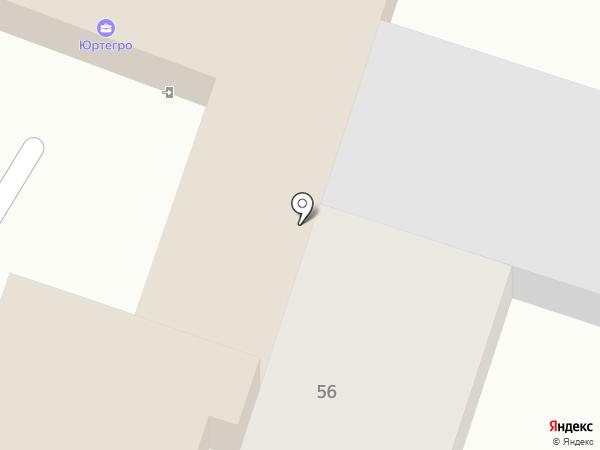 Магнет на карте Саратова