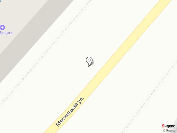Парус на карте Саратова