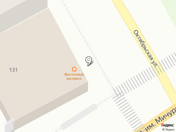 Восточный экспресс на карте Саратова