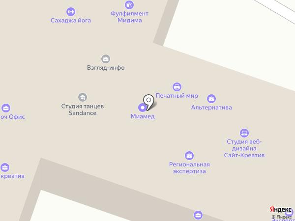 Атолл на карте Саратова
