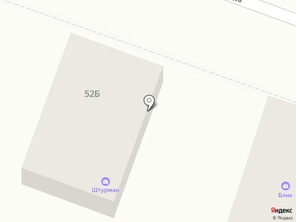 Вертикаль на карте Саратова