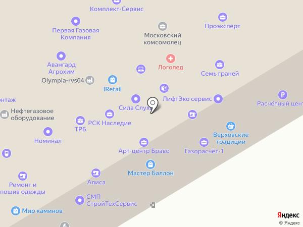 Адвокатский кабинет Ларионова Д.В. на карте Саратова