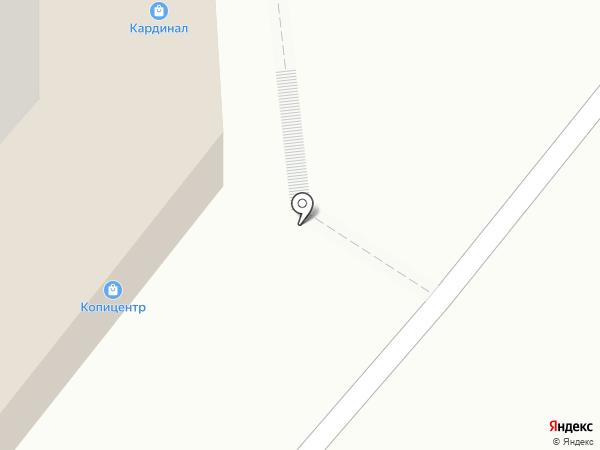 Кардинал на карте Саратова