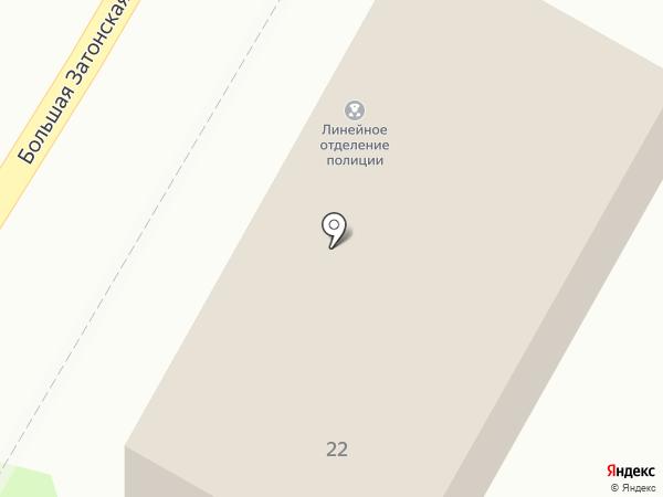 Линейное отделение полиции в речном порту г. Саратова на карте Саратова