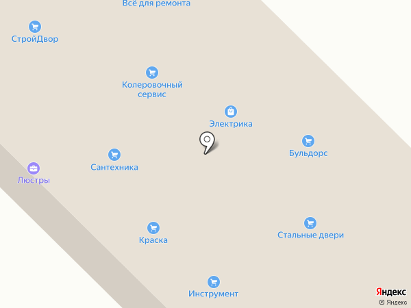 База строительных и отделочных материалов на карте Энгельса