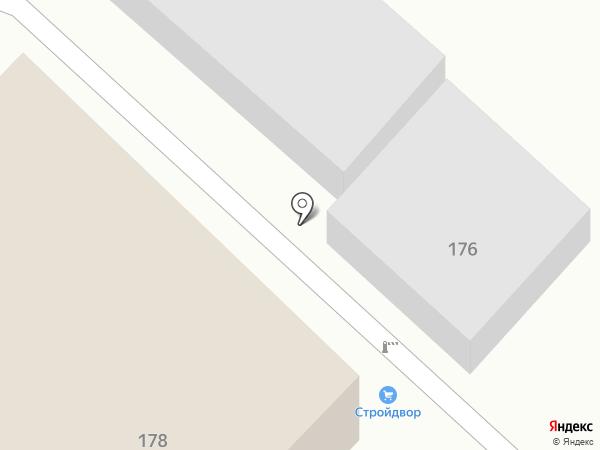 Стройдвор на карте Энгельса