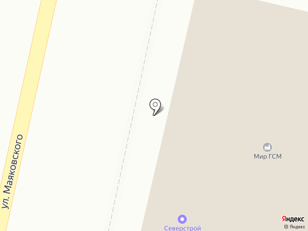 Северстрой на карте Энгельса
