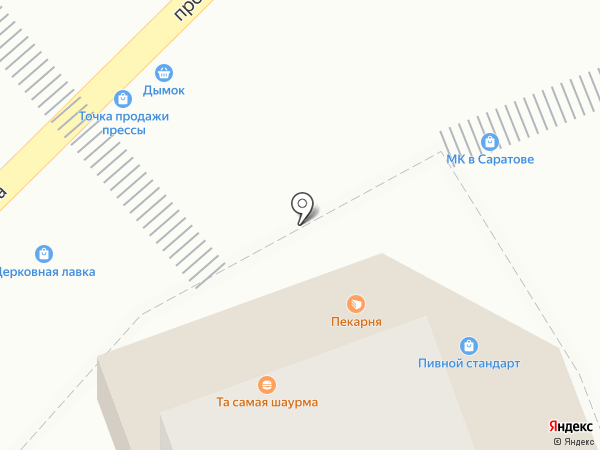 Магазин фастфудной продукции на карте Энгельса