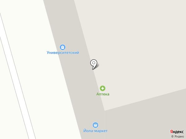 Университетский на карте Чебоксар
