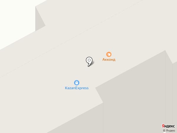 Акконд на карте Чебоксар