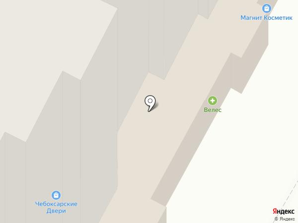 Атал на карте Чебоксар