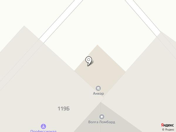 Анкор на карте Чебоксар
