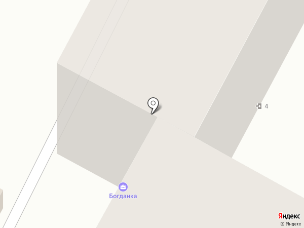 Богданка на карте Чебоксар