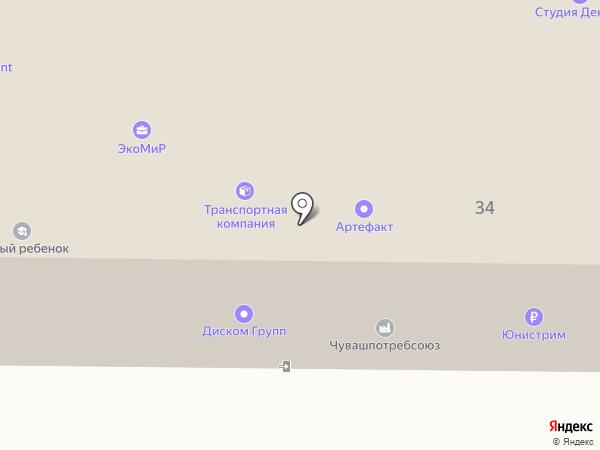 Парикмахерская Чувашпотребсоюза на карте Чебоксар