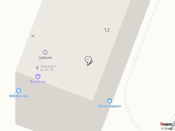 Сорока на карте Чебоксар
