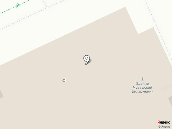 Русский драматический театр на карте Чебоксар